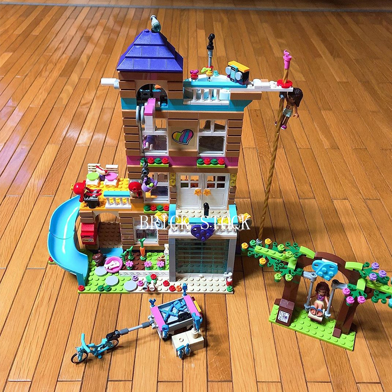 41340 Friendship House In Stock 10859 20067 868Pcs Building Blocks Bricks Toys Girl Friends Series 01063 SY1006  3012