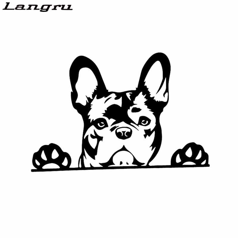 Great for Truck Car Bumper FRENCHIE MOM Pink Paw Vinyl Decal Sticker