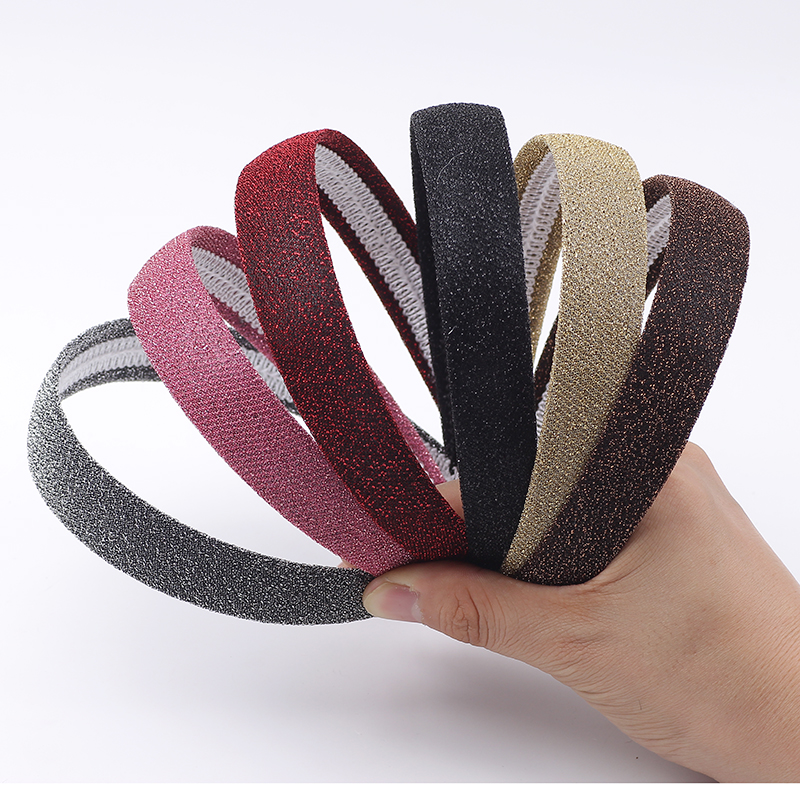 Lady Solid Satin Hair Band Plain Alice Hairband Bow Hoop 2.5cm Width Headbands Hair Band Ribbon HeadBand
