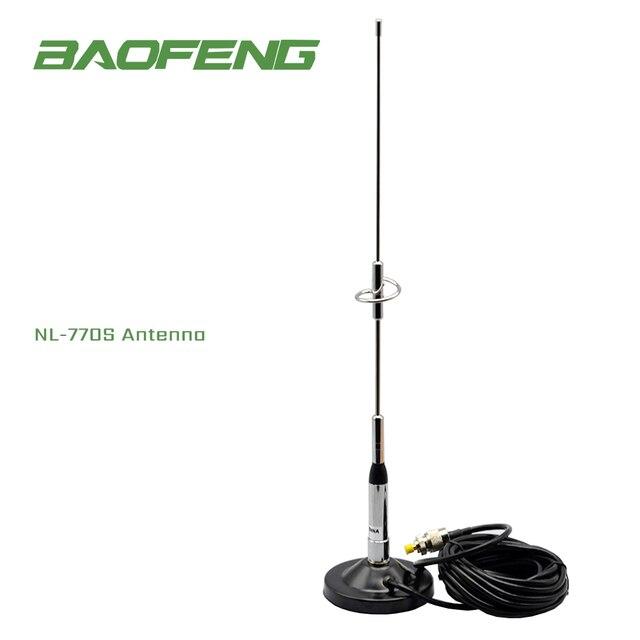 Baofeng アンテナ NL 770S シルバー名古屋デュアルバンド車高利得アンテナ 144/430 mhz 2.15dBi 50 ワット