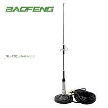 Dla Baofeng antena NL 770S srebrny NAGOYA dwuzakresowy radioodtwarzacz samochodowy antena o dalekim zasięgu 144/430MHz 2.15dBi 50W
