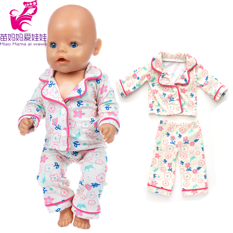 17 Inch Baby Doll Sleeping Clothes Pants For 18 Inch Girl Doll Clothes Pajama Set