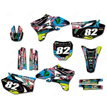 New Full Graphics Decals Stickers Custom Number Name Glossy Bright Stickers Waterproof for YAMAHA YZF250 YZF450 2003-2005