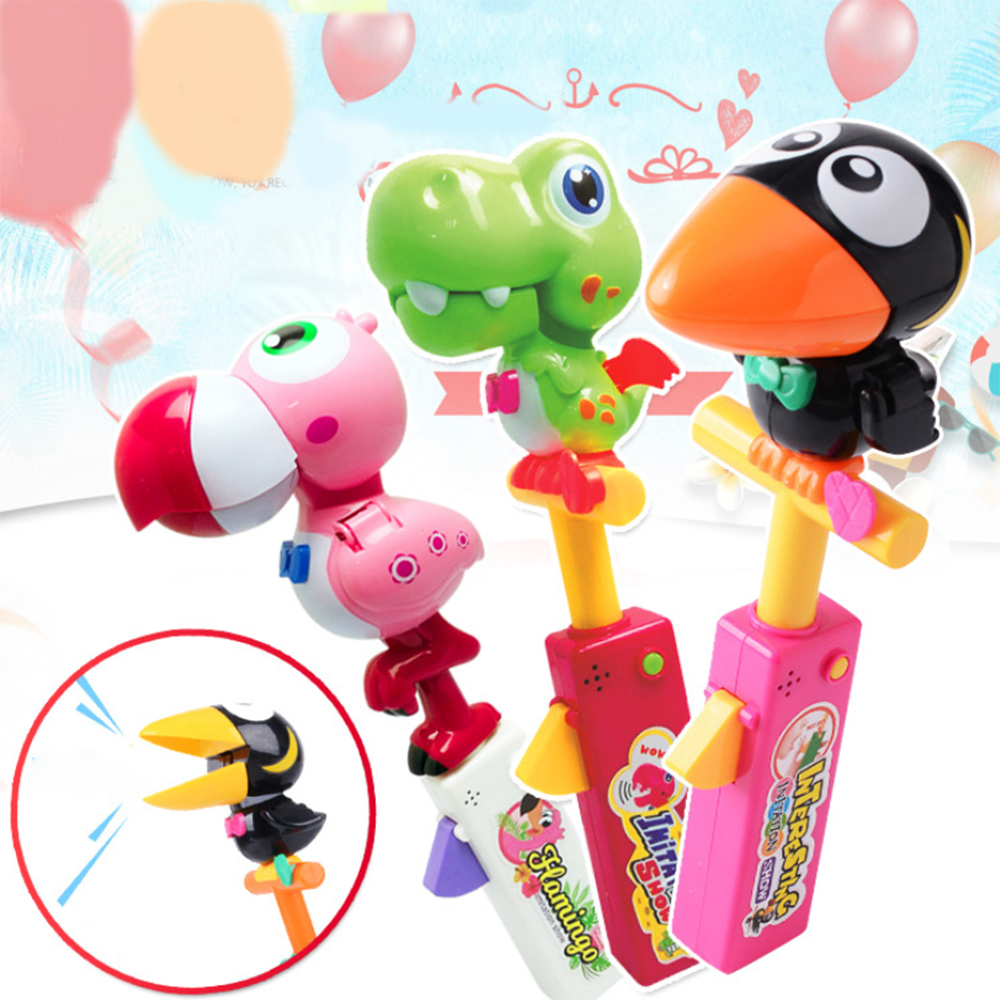Creative Talking Toucan Impersonators Toy Recording Dinosaur Children Audio Recording Animal Frog Induction Voice Control