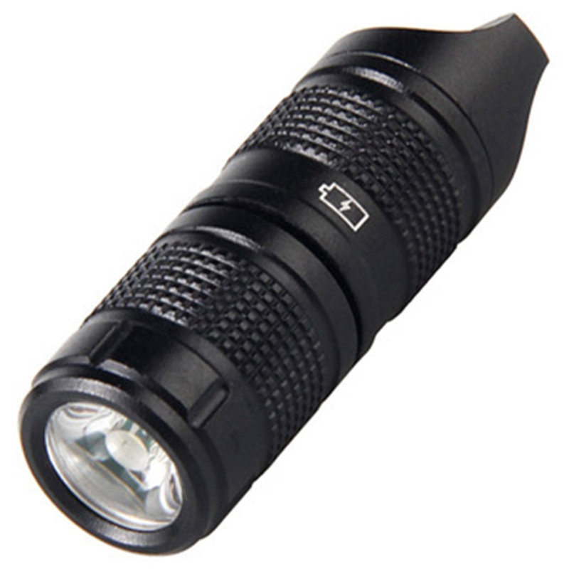 Ultra-Small Mini Led Small Flashlight Pocket Necklace Lamp Key Button Usb Rechargeable Portable Waterp