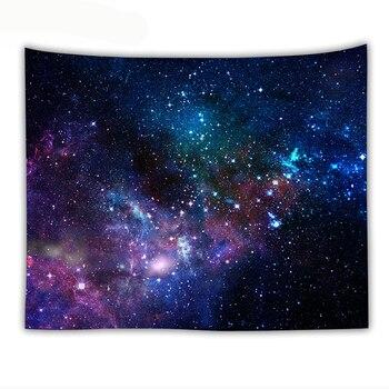Галактический психоделический гобелен, настенный декоративный настенный коврик с космическим рисунком Галактики, домашние декоративные гобелены
