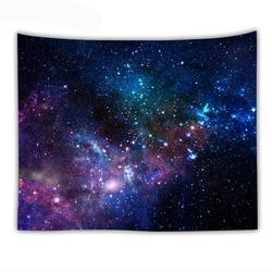 Галактический психоделический гобелен, настенный декоративный настенный коврик с космическим рисунком Галактики, домашние декоративные г...