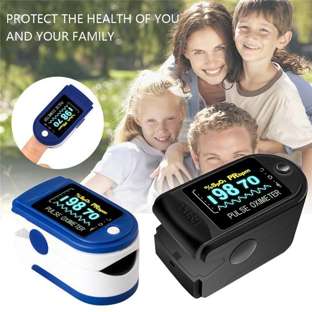 Fingertip Pulse Oximeter Digital Finger Oximeter LED Pulse Oximeter Display Heart Rate Monitor SPO2  Heart Rate Saturation Meter