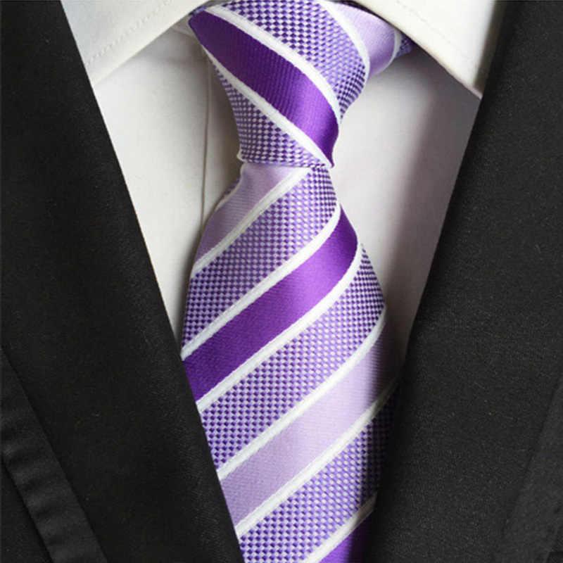 52 kolory klasyczne 8 Cm krawat dla człowieka 100% krawat jedwabny luksusowe paski biznes krawat garnitur krawat ślubny krawat na imprezę prezent dla mężczyzny