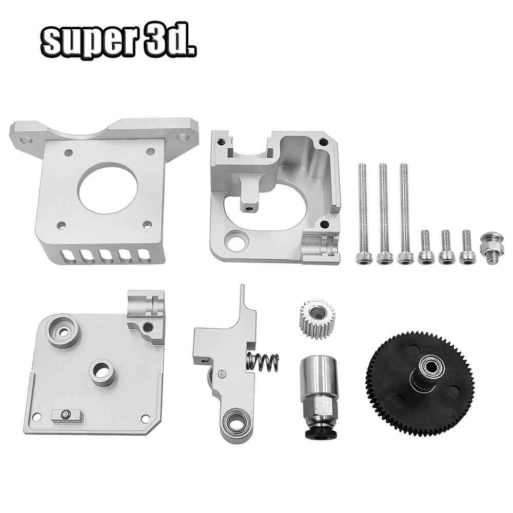 Extrusor de metal titan aero atualizado, extrusor prata/preta para unidade direta bowden i3 1.75mm peças da impressora,