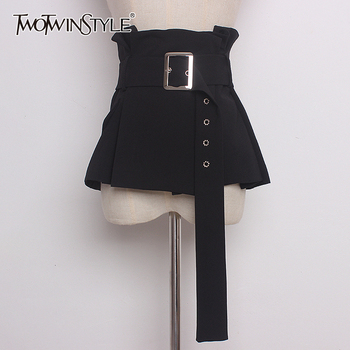 TWOTWINSTYLE Vintage Ruches Womens Riem Hoge Taille Tuniek Verstelbare Kleding Accessoires Vrouwelijke Riemen 2019 Herfst Mode Nieuwe