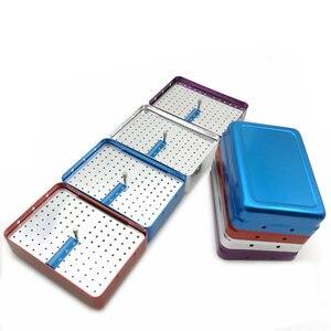Image 2 - Новинка, держатель для стоматологических инструментов с 120 отверстиями, дезинфекционная коробка для стерилизатора автоклава с линейкой