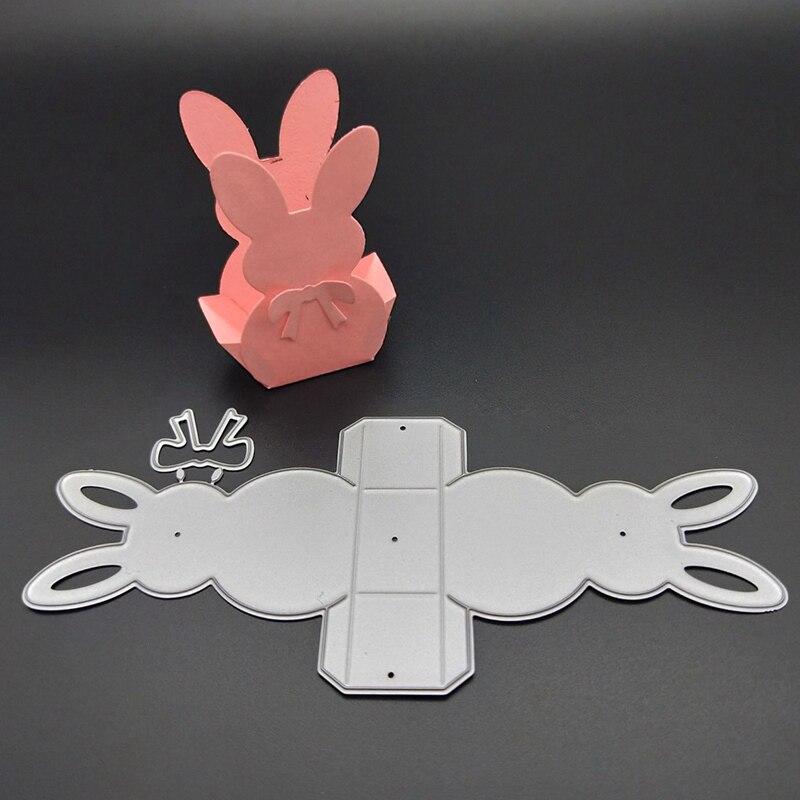 Металлические Вырубные штампы Скрапбукинг кролик 3D рамка коробка фон штамп вырубной Новый 2020 трафарет ремесло Пасхальная открытка сделай ...