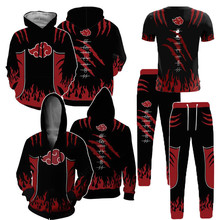 NARUTO Cosplay Sweater Sweater Coat Coat Pants T-Shirt Uzumaki Naruto Anime Adult COS Apparel Set Christmas Halloween Gift(China)