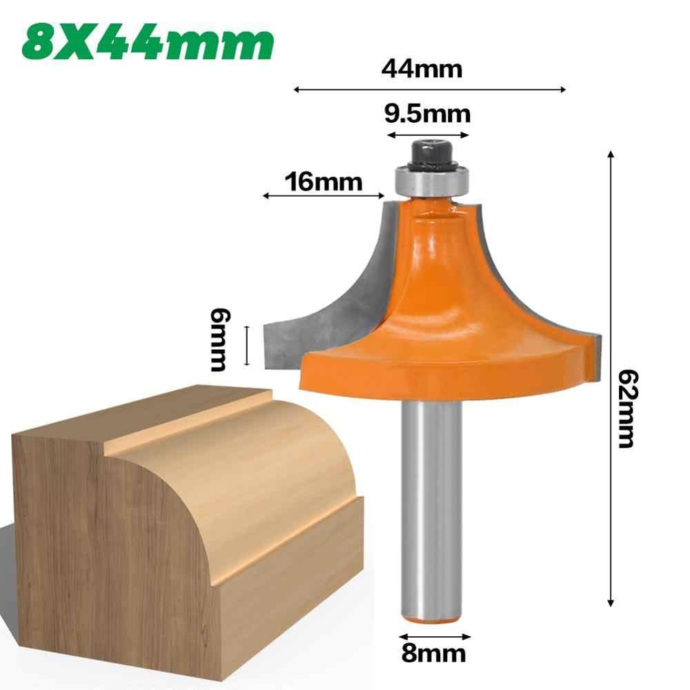 """Mèche de routeur ronde-1 """"rayon 8"""" tige 1 pièces 8mm tige de routeur en bois"""