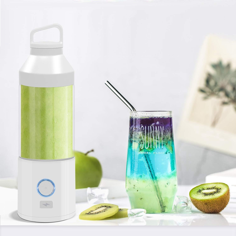 Personal Blender Glass Portable Blender for Shake and Smoothie Rechargeable Juicer Cup Multifuntional Small Single Serve Travel Juicers     - title=