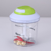 Multi functional large scale manual vegetable cutter portable hand pulled garlic cutter whirlwind meat mincer chopper