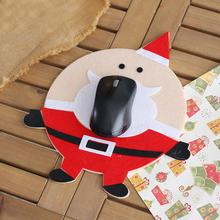 цена на коврик Santa Claus Soft Non-woven Mouse Pad alfombrilla raton Cute Elk Snowman MousePad Christmas Gift коврик для мыши muismat