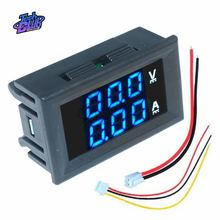 DC 0- 100V Mini Digital Voltmeter 10A Panel Amp Volt Voltage Current Meter Tester Detector LED Display Auto Car Red Blue Green стоимость