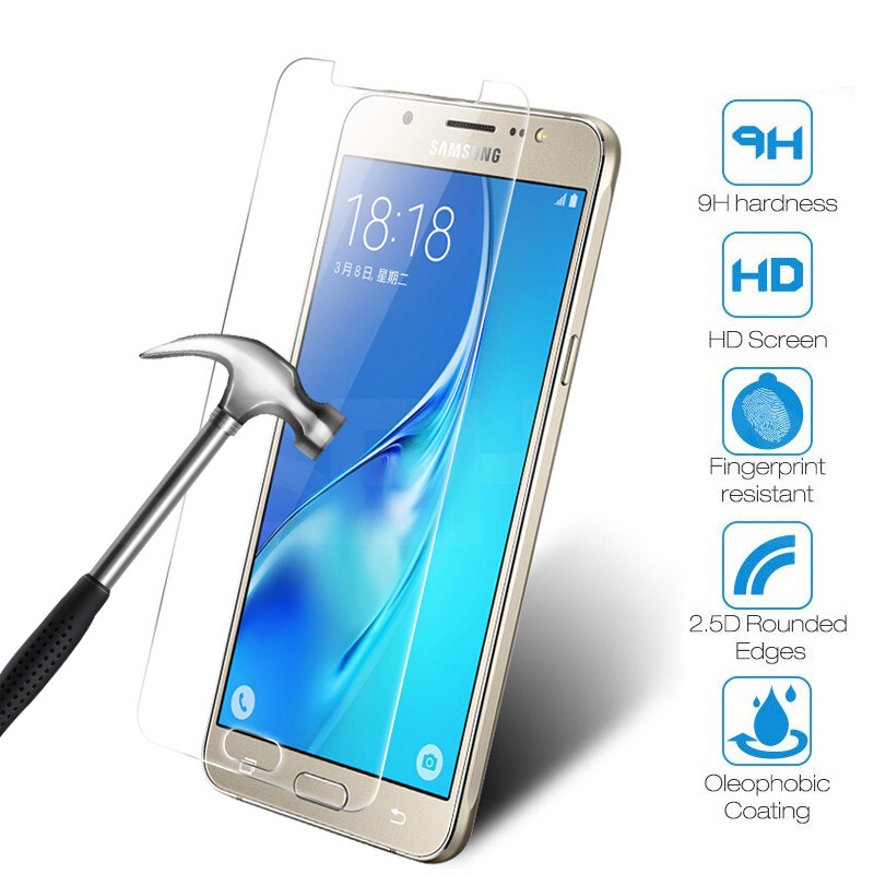 9H Protective Glass on the For Samsung Galaxy J3 J5 J7 A3 A5 A7 2016 2017 Samsung S7 Tempered Screen Protector Clear Glass Film 1