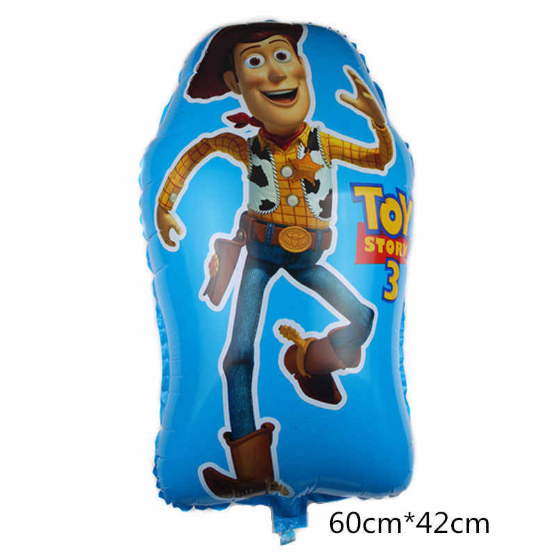 Disney Toy Story Party Balloons Decoration Supplies 60*42cm Buzz Lightyear Toy Foil Balloons For Birthday Party Decor 1pcs/lot