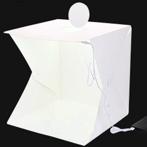 Image 2 - Baolyda Photobox iluminación 40*40 2LED Mini Lightbox Photo Studio Kit para fotografía caja de luz con 4 colores telón de fondo