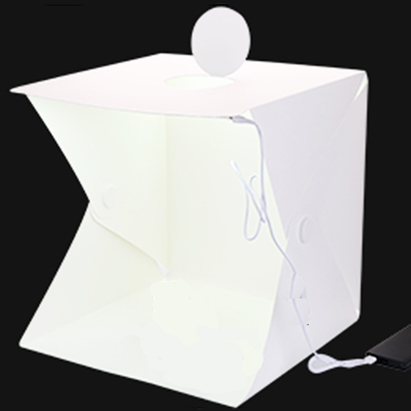 Image 2 - Baolyda Whitebox Photobox Lighting 40*40 2LED Mini  Lightbox Photo Studio Kit for Photography Light Box with 4 Color Backdrops-in Tabletop Shooting from Consumer Electronics