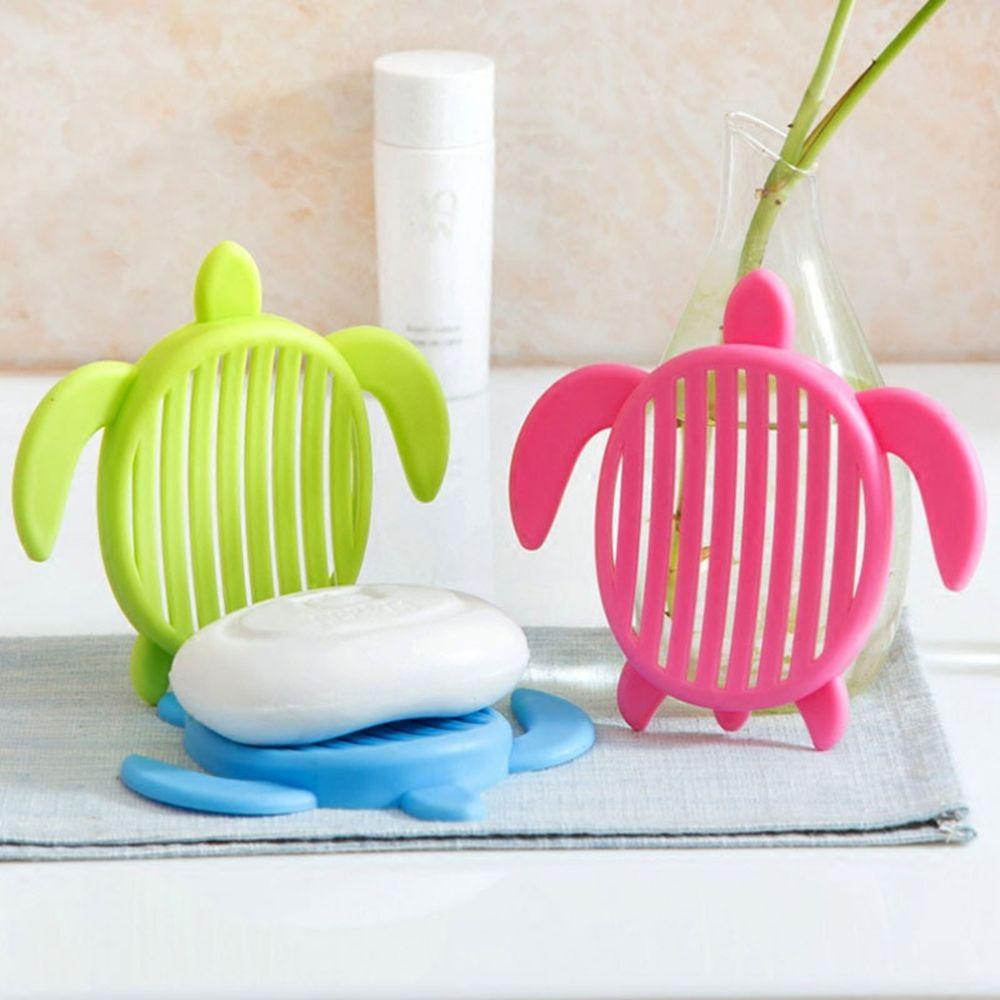 1Pcs Tortoise Shape Plastic Home Travel Soap Dishes Creative Simple Drain Soap Holder Bathroom Accessories