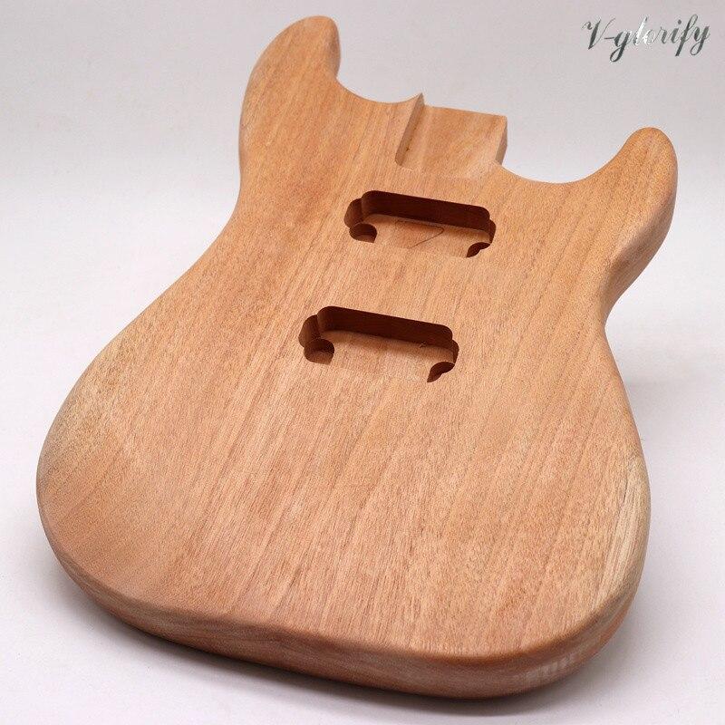 okoume wood ST electric guitar body guitar barrel guitar parts without bridge route