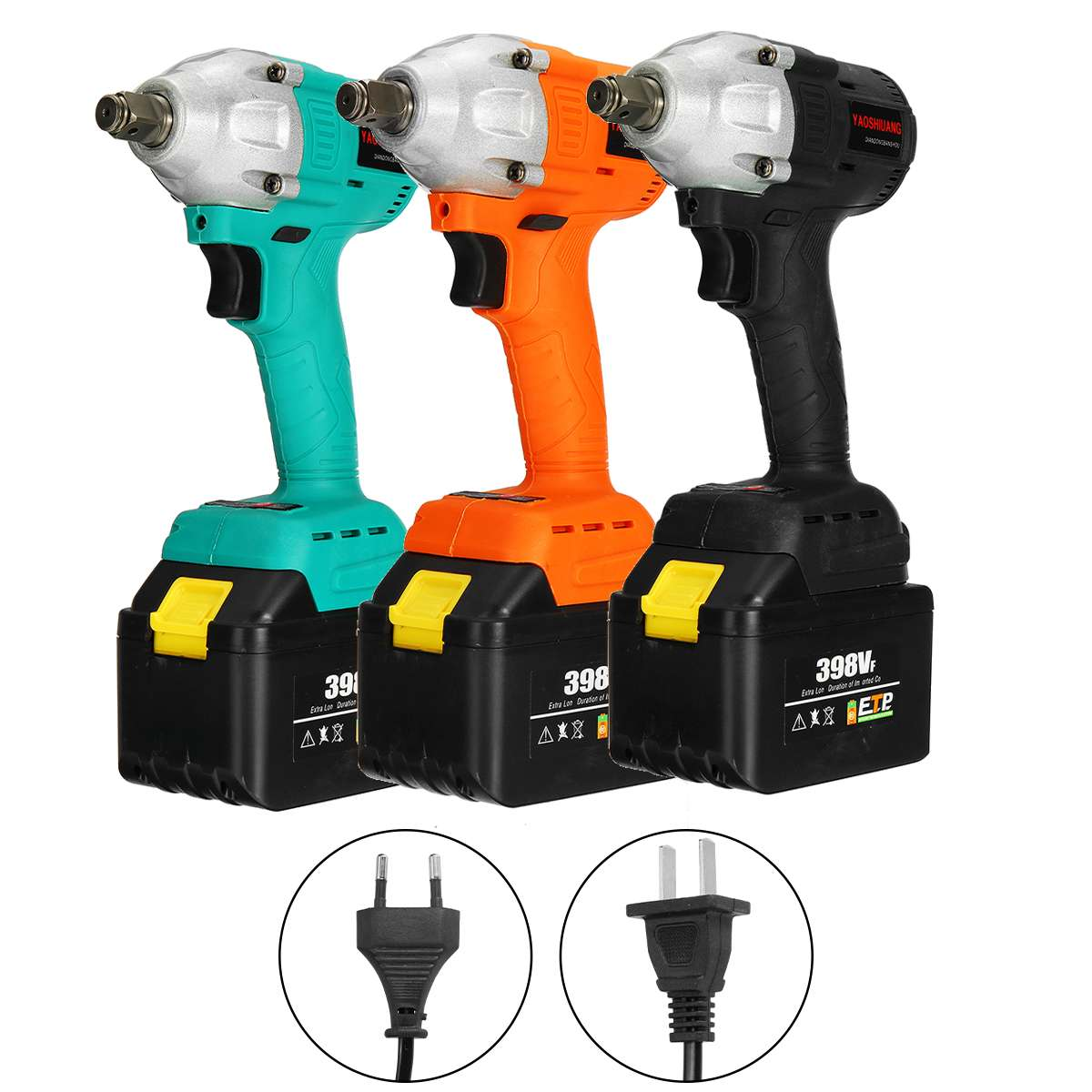 YAOSHUANG 750W 680NM Brushless Cordless Impact Wrench 39800mAh Electric Impact Wrench Battery Wrench Power Motor With Sleeves