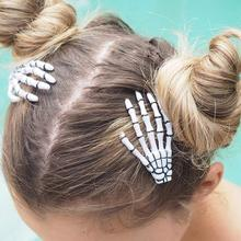 Claw-Hairpin Hair-Accessories Halloween Fashion Skull Skeleton Punk Party-Zombie Hand-Bone