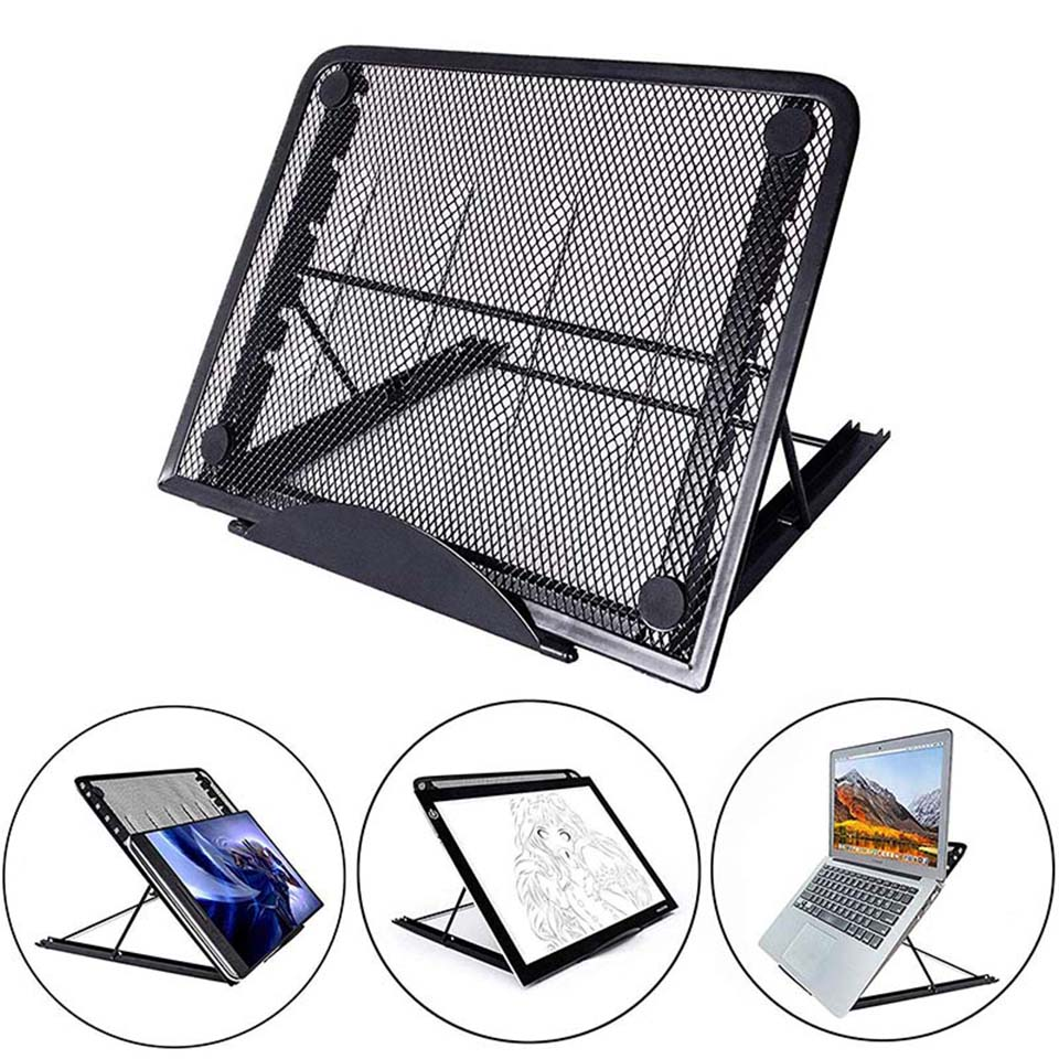 Mesh Ventilated Adjustable Laptop Stand Holder Cooler Folding Portable For Laptop Notebook Tablet