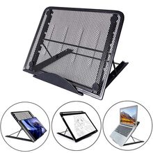 Mesh Berventilasi Adjustable Laptop Stand Pemegang Cooler Lipat Portabel untuk Laptop Notebook Tablet(China)