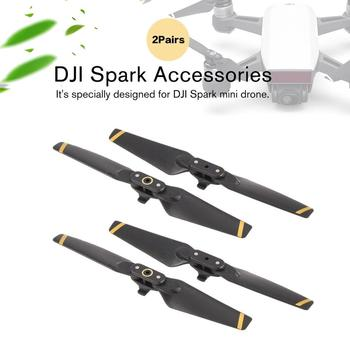 2 Pairs FPV Foldable CW CCW Propellers Replacement Blades Props for DJI Spark RC Drone Accessories Parts Kits 4