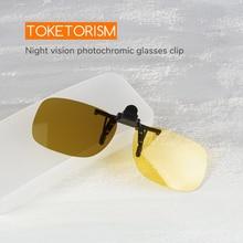 Toketorism Photochromic glasses clip lightweight night vision driving sunglasses on 302B