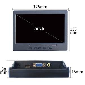 7-дюймовый сенсорный монитор HDMI VGA pc мини маленький ЖК CCTV hd портативный монитор TFT 1024*600 для автомобиля заднего вида ps4