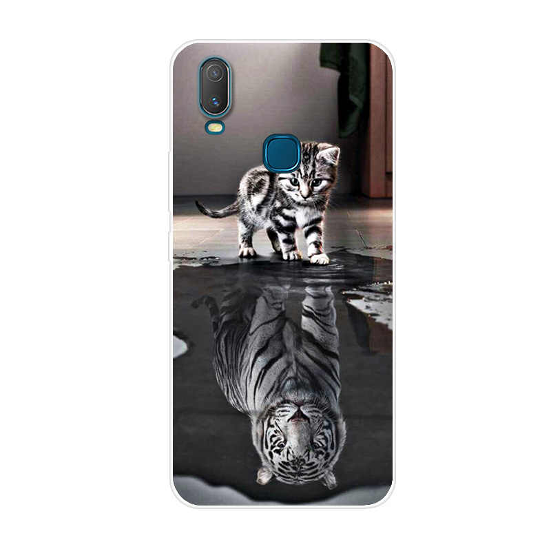 """6.35 """"pokrywa dla Vivo Y11 2019 Case silikonowa miękka tylna obudowa etui na Vivo Y11 2019 Case Funda dla Vivo Y17 Y12 Y15 Case Coque"""