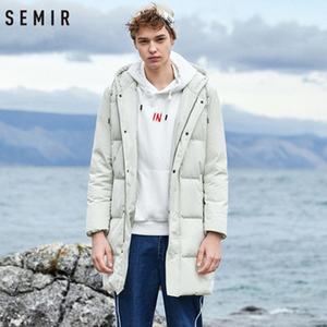 Image 3 - SEMIR 2020 Neue Winter Männer Unten Jacke 2XL Extra Lange Ente Unten Mantel Verdicken Warme Winddicht Männlichen Outwear