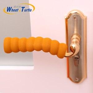 3 шт./лот, товары для безопасности для детей, дверная ручка для комнаты, чехлы, спиральная защита от столкновений, защитная дверная ручка