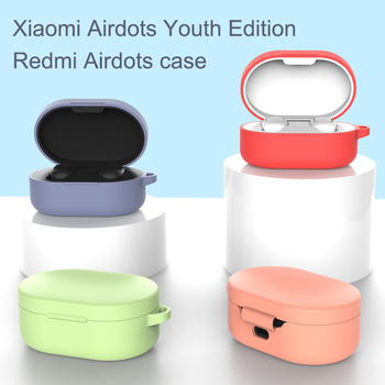 Headphones Covers Silicone Earphone Case TWS Bluetooth Earphone Wireless Headsets Protective Shells For Xiaomi MI Redmi AirDots image