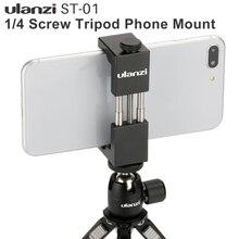 Ulanzi demir adam alüminyum evrensel telefon montaj tutucu standı klip Tripod montaj adaptörü iPhone 7 için/7 artı Android akıllı telefon