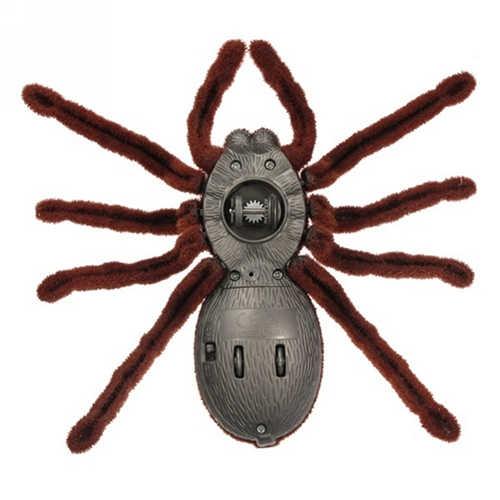 Bateria de Controle Remoto Assustador Assustador Brinquedo Macio Plush Aranha Rc Tarantula Infravermelho Brinquedos Engraçados Halloween Xmas Presente Brinquedo Animal