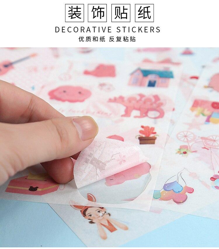 ilha sonhando diário decorativo móvel adesivos scrapbooking diy artesanato adesivos