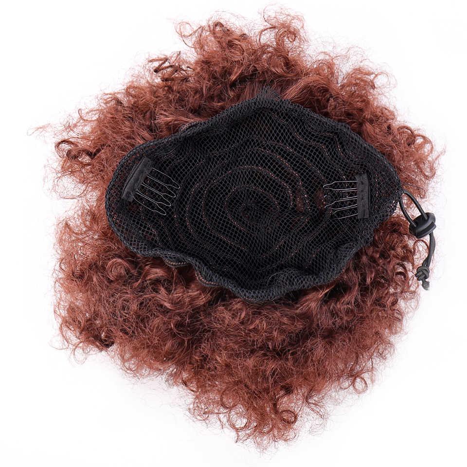 Allaosify длинные афро кудрявые шнурки конский хвост синтетические волосы кусок конский хвост волос для женщин Поддельные булочки клип в наращивание волос