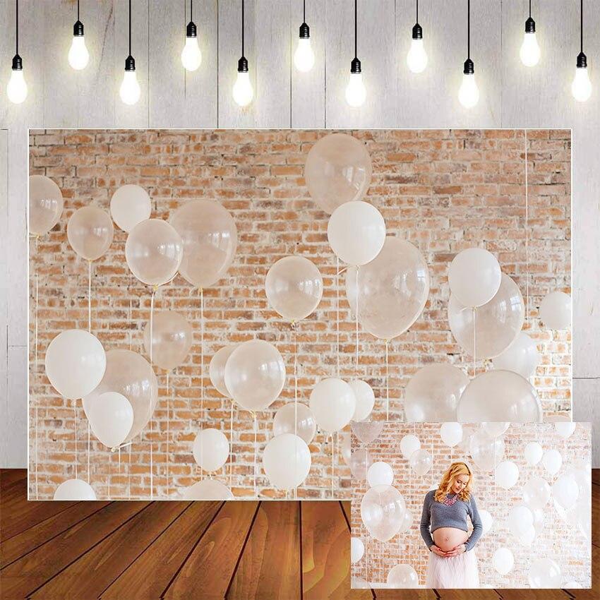 Фон для фотосъемки Mehofond белые прозрачные воздушные шары винтажные кирпичные стены декорация фон Фотофон реквизит для фотостудии