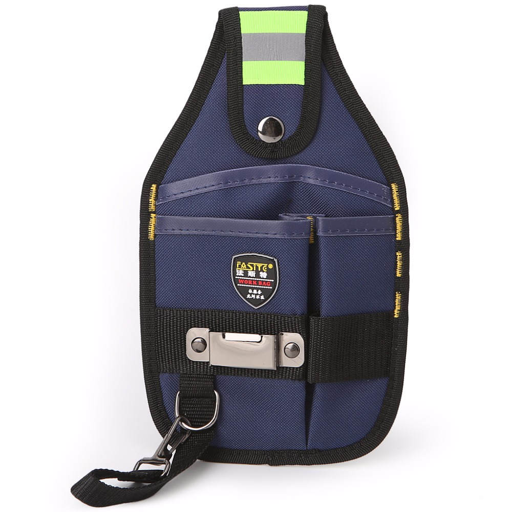 Drop Ship 3-Pocket Professional Electrician Tool Bag Tape Buckle Work Belt Pouch