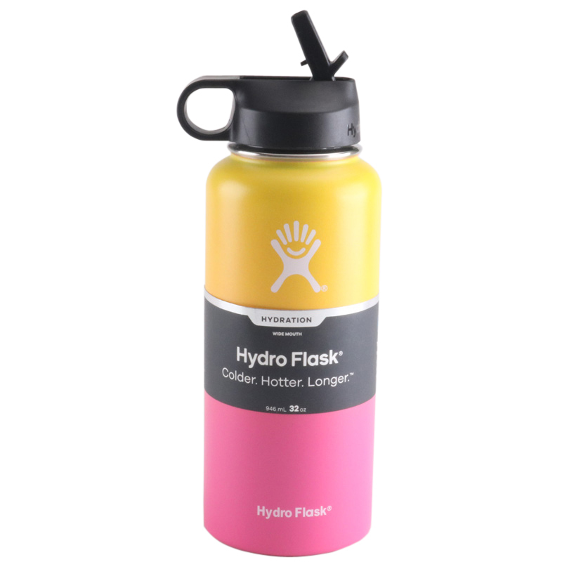 Hdd6e20bf24214e12b0b85ff4c292d230Y hydro flask 18oz/32oz/40oz Tumbler Flask Vacuum Insulated Flask Stainless Steel Water Bottle Wide Mouth Outdoors Sports Bottle