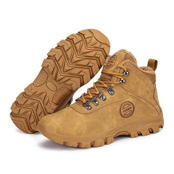 أحذية الشتاء الرجال أحذية الثلوج في الهواء الطلق الدافئة القطيفة قطيع الجلود الجوارب الصبي الكاحل الرجل في رياضة حذاء مسطح منصة بوتاس 1