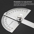 Регулируемый транспортир на 180 градусов, многофункциональная линейка из нержавеющей стали с круглой головкой, математический измерительны...