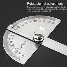 Strumento di misurazione della matematica del righello di angolo della testa rotonda dell'acciaio inossidabile multifunzionale del goniometro regolabile di 180 gradi